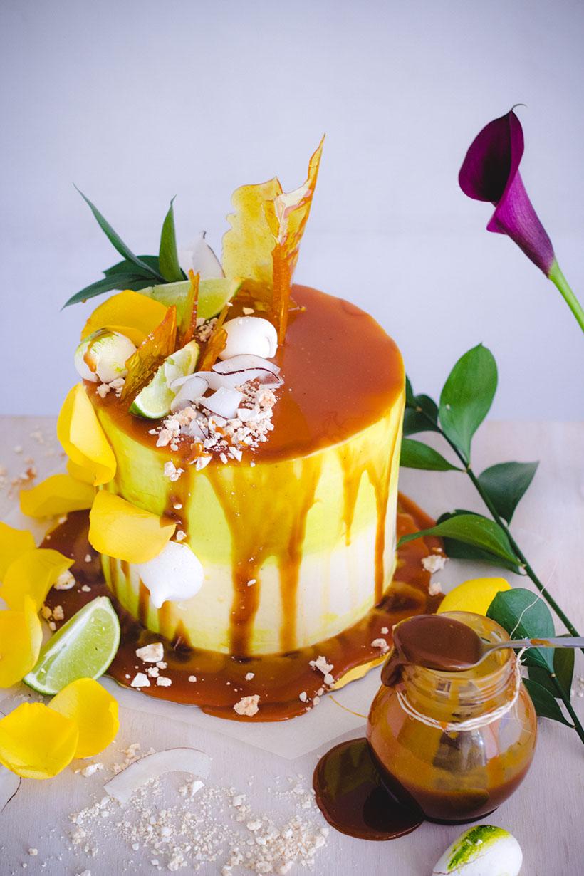 lemon and coconut cake
