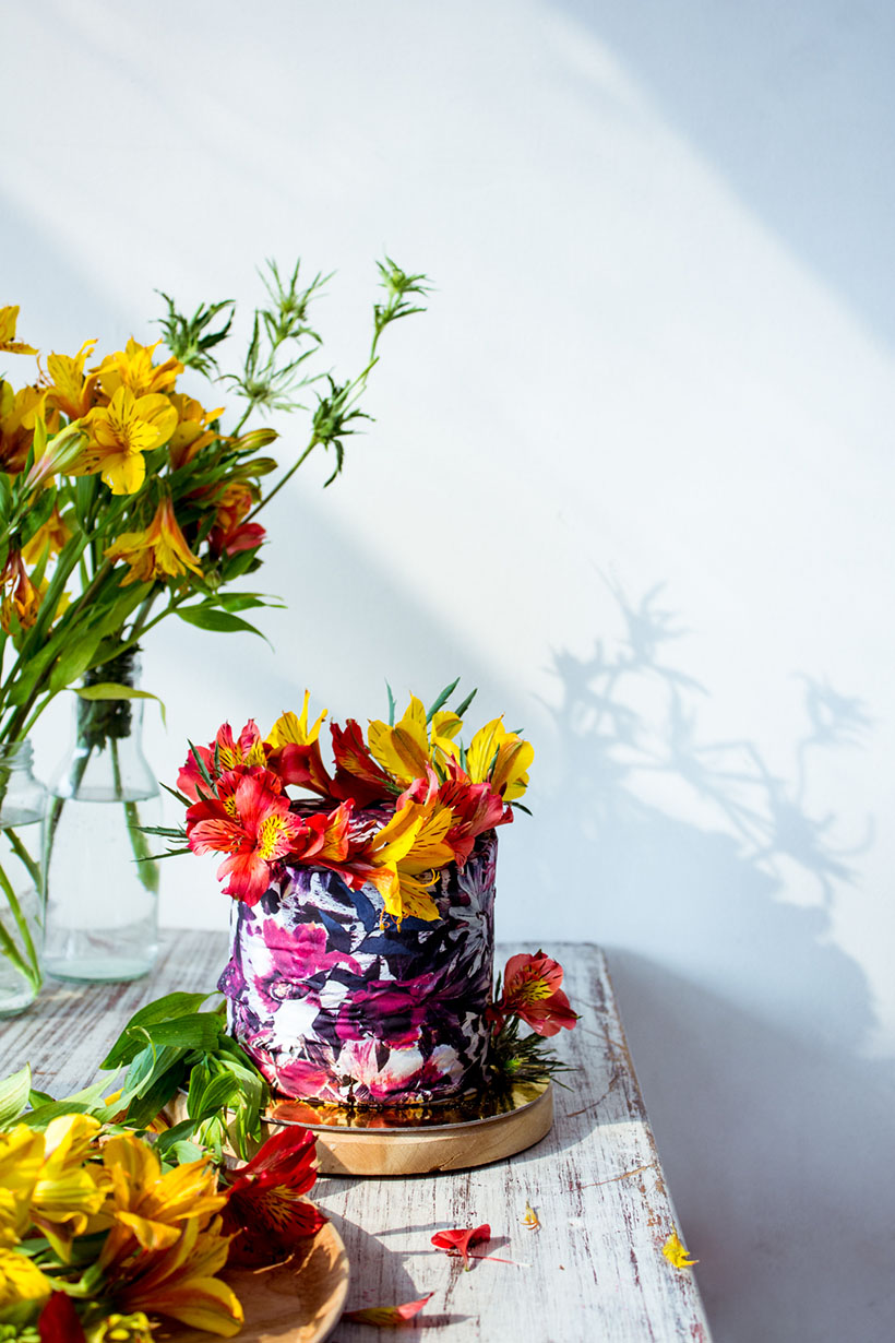 floral print cake 06