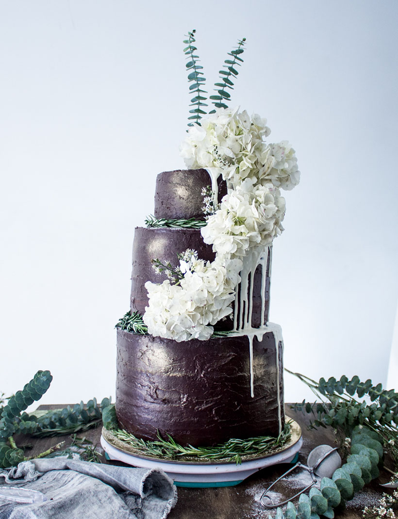 Chocolate Wedding Cake 08