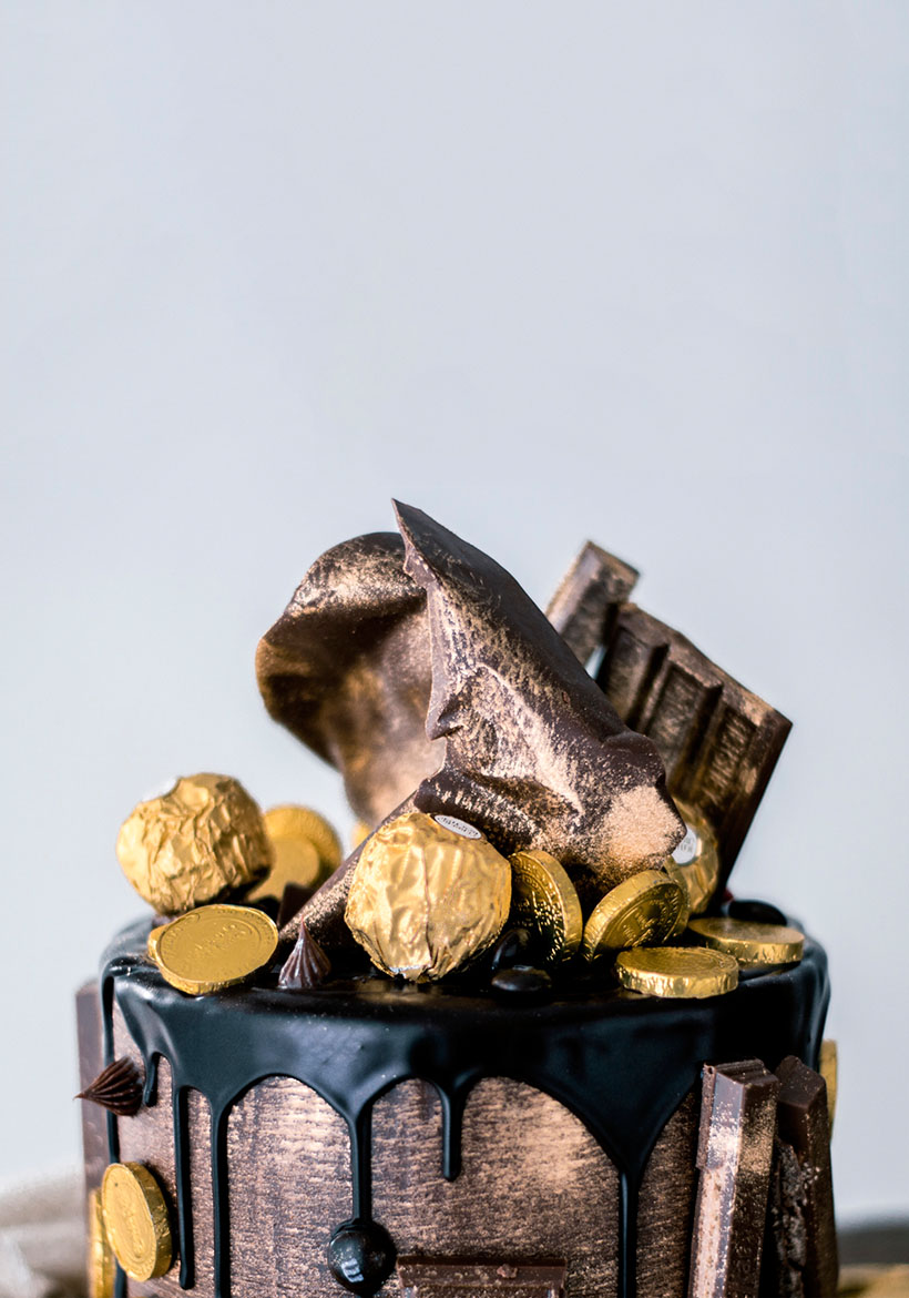 Special Gold and Dark Chocolate Cake