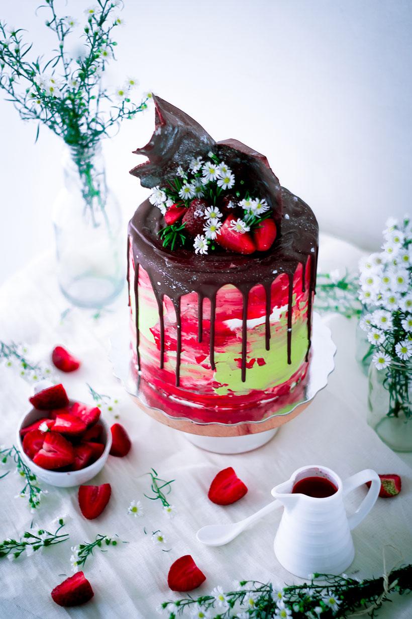 Buttermilk Vanilla Cake And Homemade Strawberry Jam